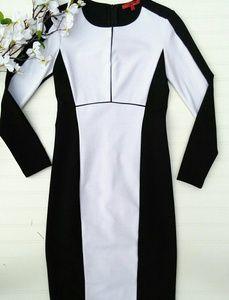 Narcisco Rodriguez ponte black/white xs sheath